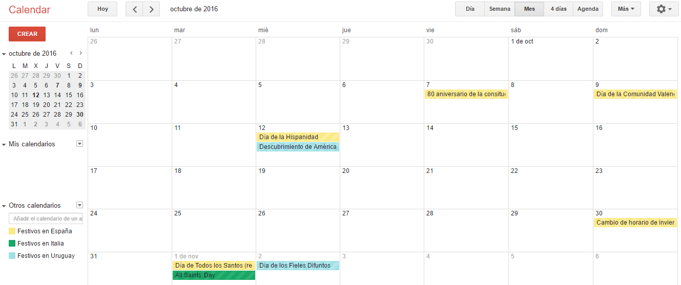 Calendario de demanda hotelera - Revenue Management